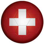 Switzerland Football Flag 58mm Button Badge